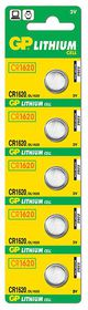 GP Batteries 3V CR1620 Lithium Coin Batteries