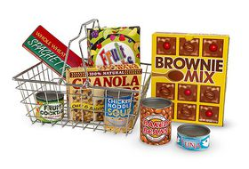 Melissa & Doug Grocery Basket With Playfood