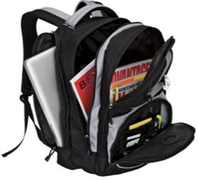 Eco Backpack with Laptop Sleeve - Black & Grey