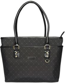 Eco Ladies Executive Handbag - Black Patterned