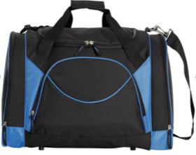 Eco Curved Front Pocket Sports Bag - Black & Blue