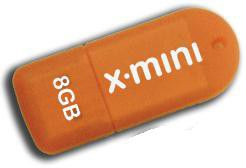 Patriot - X-Porter 8GB Mini Flash Drive - Orange