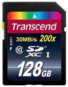 Transcend 128GB 200X Class 10 SDXC Card