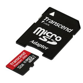 Transcend 32GB 300X Class 10 Micro SD Card & Adapter