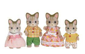 Sylvanian Family Striped Cat Family