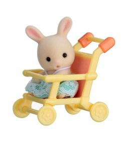 Sylvanian Family Baby Carry Case with Push Chair - Rabbit
