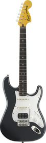 Squier by Fender Vintage Modified Stratocaster HSS Electric Guitar Rosewood Fretboard - Charcoal Frost Metallic