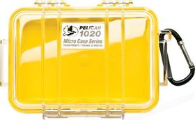 Pelican 1020 Micro Clear Case - Yellow