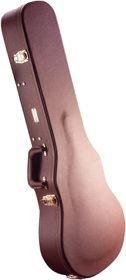 Gator GW-LP-BROWN Deluxe Wooden Case for Les Paul Style Electric Guitar - Brown