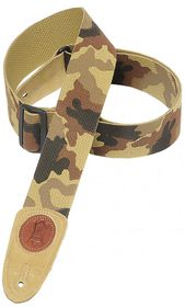 "Levy LLMSSC8DCM MSSC8 2"" Signature Series Cotton Guitar Strap - Desert Camo"