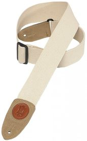"Levy LLMSSC8NAT MSSC8 2"" Signature Series Cotton Guitar Strap - Natural"