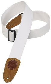 "Levy LLMSSC8WHT MSSC8 2"" Signature Series Cotton Guitar Strap - White"