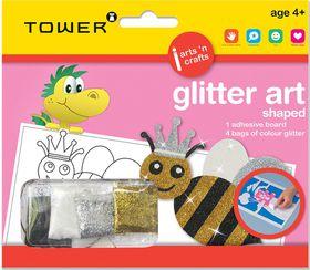 Tower Kids Glitter Art Shaped - Bee