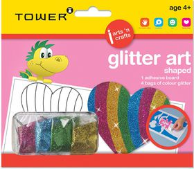 Tower Kids Glitter Art Shaped - Heart