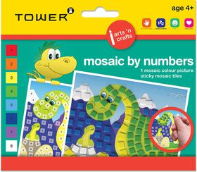 Tower Kids Mosaic by Numbers - Dinosaur