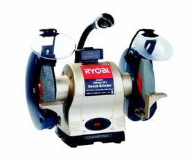 Ryobi - Bench Grinder 375 Watt H/D With Light and Wheel Dresser - 200Mm