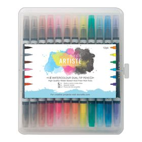 Docrafts Artiste Dual Tip Pens - Brush & Marker - Watercolour