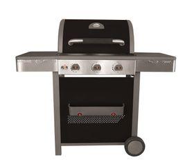Alva - Clifton Black Gloss Enamel Hooded 3 Burner Gas Grill