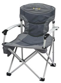 OZtrail - Royale Armchair - Charcoal