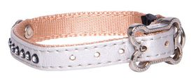 Rogz Lapz 8mm Extra Small Luna Pin Buckle Dog Collar - Ivory