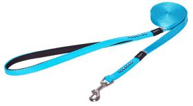 Rogz Lapz 8mm Extra Small Luna Fixed Long Dog Lead - Blue