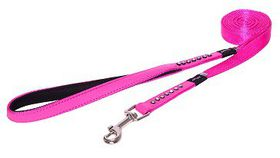 Rogz Lapz 16mm Medium Luna Fixed Long Dog Lead - Pink