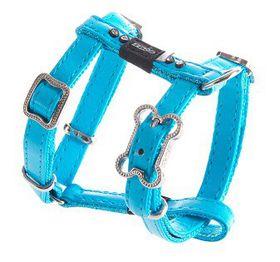 Rogz Lapz 8mm Extra Small Luna Adjustable Dog H-Harness - Blue
