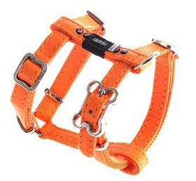 Rogz Lapz 8mm Extra Small Luna Adjustable Dog H-Harness - Orange