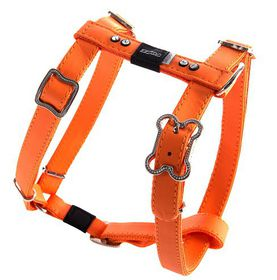 Rogz Lapz 16mm Medium Luna Adjustable Dog H-Harness - Orange