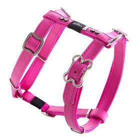 Rogz Lapz 16mm Medium Luna Adjustable Dog H-Harness - Pink