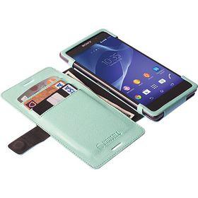 Krusell Malmo FlipWallet for Sony Xperia Aqua M4/Aqua M4 Dual - Mint