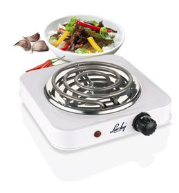 Lucky Single Hotplate Stove - White