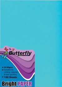 Butterfly A4 Bright Paper 100s - Blue