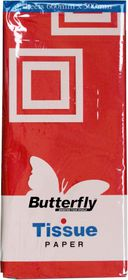 Butterfly Tissue Paper 4 Sheets - Red (T01)