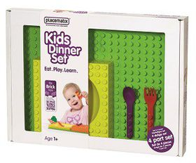 Placematix Kids - Dinner Gift Box - Green and Orange