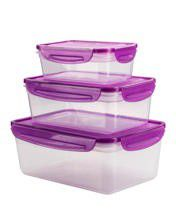 Coolgear - Ez Freeze and Lock Rectangle Container - Set Of 3