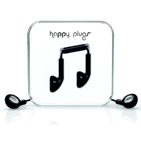 Happy Plugs Earbud + Mic & Remote - Black