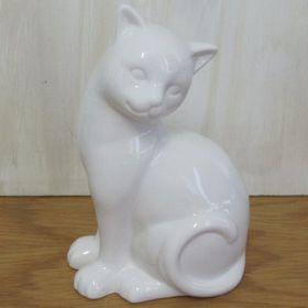 Pamper Hamper Ceramic Sitting Cat - White