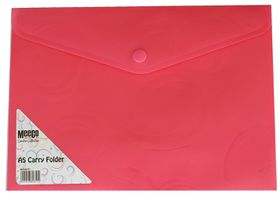 Meeco A5 Creative Colour Carry Folder - Pink