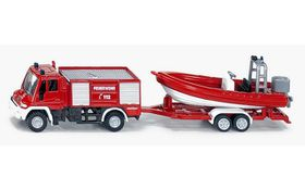 Siku Mercedes-Benz Unimog Fire Engine with Boat