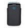BlackBerry 9360 - Line Leather Pocket - Black and Sky Blue