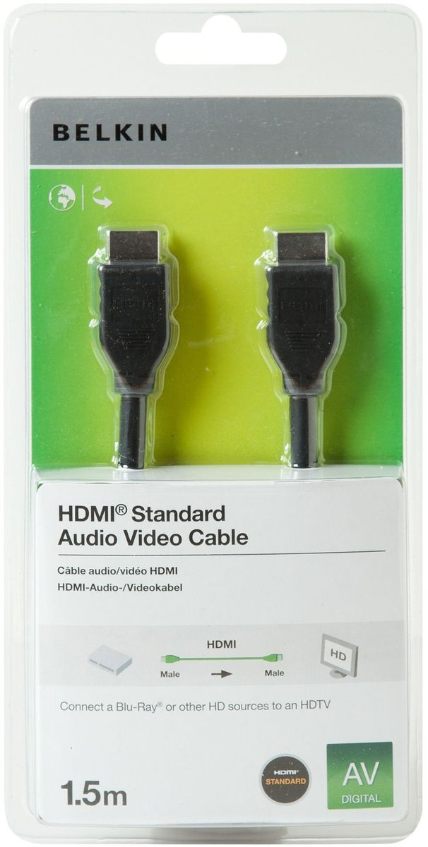 belkin hdmi to hdmi component cable black buy online in south africa. Black Bedroom Furniture Sets. Home Design Ideas
