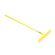 Lasher Tools - 16 Tooth Garden Rake - Yellow