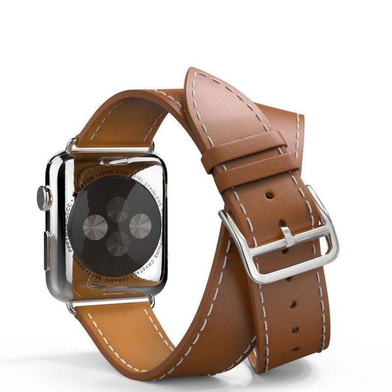 hermes leather double band