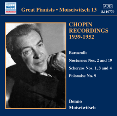 Moiseiwitch: Piano Works - Chopin Recordings 1939-1952 (CD)