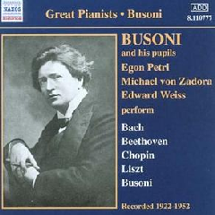 Busoni / Petri / Zadona / Weiss - Busoni & Pupils (CD)