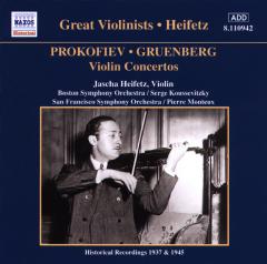 Jascha Heifetz - Violin Concertos Prokofiev No.2 Etc (CD)
