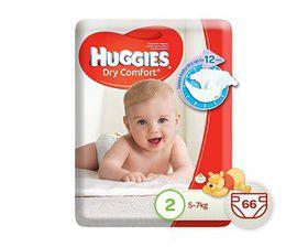 Huggies - Dry Comfort - Size 2 Mini 66
