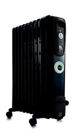 Delonghi - Oil Fin Heater - Black