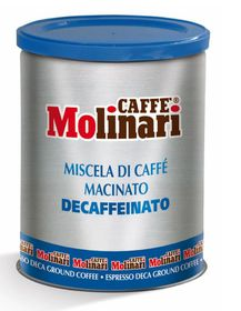 Caffe Molinari - 5 Star Decaf Ground Tin - 250g